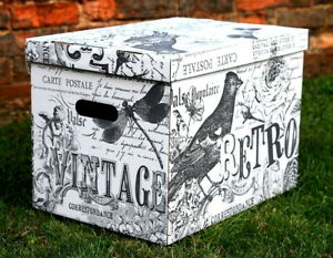 Decorative Storage Boxes Cardboard Box Organiser Archive XL Extra Large