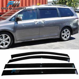 Fits 11-20 Toyota Sienna Slim Style Acrylic Window Visors Rain Sun Guard 4Pc Set
