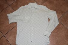 Banana Republic Premium Woven Green White Check Dress/Casual/Club Shirt M 15-.5