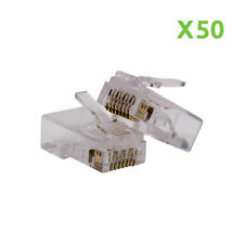 50 RJ45 8P8C network Keystone Modular Plug CAT5 CAT5e Connector