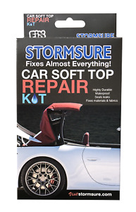 BLACK Car Soft Top Roof & Convertible Repair Kit