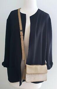 & Other Stories Crossbody Shoulder Bag Small Leather Handbag Clutch Tan Beige