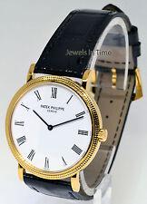 Patek Philippe Calatrava 18K Yellow Gold Mens Wrist Watch Box/Papers 5120J