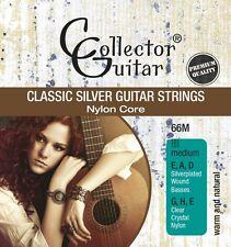 6x CollectorGuitar 66M Konzertgitarren-Saiten Classic Silver Guitar Strings Nylo