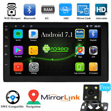 "Android 7.1 Bluetooth Car Stereo Radio 2 DIN 7"" MP5 Player GPS Wifi Rear Camera"