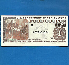FOOD STAMP COUPON 1975 A month code H USDA Currency Paper Money Script Welfare