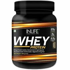 Whey Protein Powder With Isolate Concentrate Hydrolysate & Digestive Enzymes 400