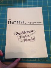 Gentlemen Prefer Blondes Playbill