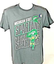 MSU New Michigan State Spartans Green Athletic T-Shirt NCAA X large