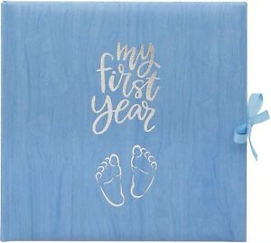 BABY'S MY FIRST YEAR BLUE RECORD LOG BOOK