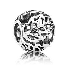 NEW 925 Sterling Silver European Bracelet Charm Bead Openwork Leaf