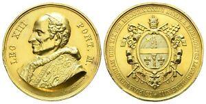 Vatikan Papst Leo XIIII. 1878 – 1903 vergoldete Bronzemedaille 1893 (F. KISSING