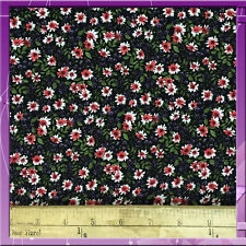 """100% RAYON CHALLIS. TINY FLOWERS. HUES OF PINK, IVORY, GREEN, PURPLE. 60"""" WIDE"""