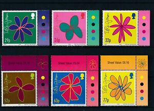 [16160] Isle of Man 2002 : Flowers - Good Set of Very Fine MNH Stamps