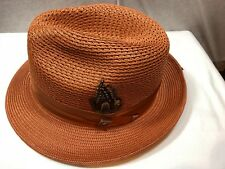 ... Deluxe WOOL Fedora Hat DARK BLUE XL BIG BRIM ZOOT STYLE HAT.  23.59.  Was  Previous Price 58.97 · NEW WITH TAG STACY ADAMS MEN S FEDORA STRAW HAT  COPPER ... 9b540c47b8b6