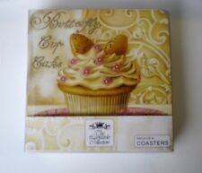 New Design Set x4 Butterfly Cupcakes Table Coasters Top Quality Table Settings