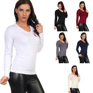 BALI Lingerie - Damen Langarm Shirt V-Neck T-Shirt