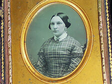 6th Plate Daguerreotype of a very pretty lady Nice case with restored spine