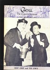 CHOP CHOP & TED LEWIS GENII MAGICIANS MAGAZINE SEP1959 - contents in post