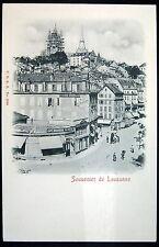 SWITZERLAND~SUISSE~1900's Souvenir de LAUSANNE ~ CAFE BRASSERIE DU SIECLE