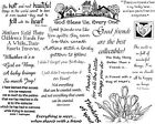 Unmounted Rubber Stamps Sheets, Sayings & Quotes, Friendship, Christian, Friends