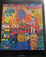 Friedensreich Hundertwasser  The Thirty Days Fax Painting Poster  14x11