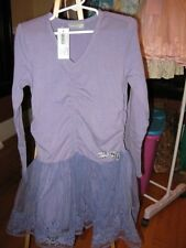 NWT New Naartjie Organza Skirted Dress Purple Cottontail Size 7