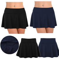 Women Swimwear Skirted Swim Boardshort Ruffle Beach Skirt Bikini Bottoms Dress