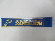 BOOKMARK Leather Brighton Aquarium Dolpinarium DOLPHIN Blue