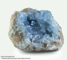 Madagascar Celestite Crystal druzy cluster sky Blue Geode Mineral 1ech