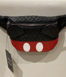 NEW DISNEY X LOUNGEFLY MICKEY MOUSE QUILTED BELT BAG / BUM BAG BNWT