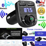 Wireless Bluetooth Handsfree Car Kit Clear FM Transmitter MP3 Player USB Charger
