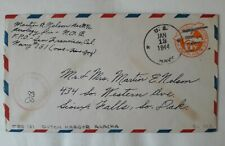 US military navy cover APO 151 Alaska aerology div NOB Sioux Falls SD 1941 WWII