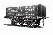 pu0366 - Railway Wagon no 312 - B J Forder of Stanbridgeford - photograph