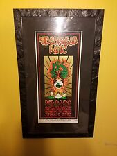 Original Widespread Panic tour poster from summer 2002 professionally framed