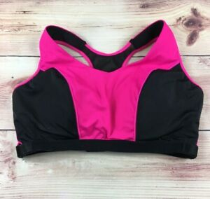 Lane Bryant Cacique No Wire Sports Bra Size 40C Pink and Black