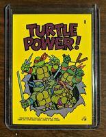 VINTAGE 1989 Topps Teenage Mutant Ninja Turtles - Laptop Sticker Turtle Power!