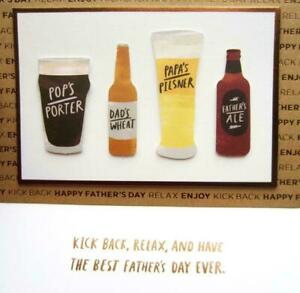 Papyrus Father's Day Card - 4 Beers Beer Porter Ale Pilsner - Kick Back & Relax