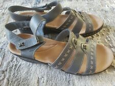 Clarks blue Leather Lexi Evelyn Lightweight Ankle Strap Sandal New size 11W