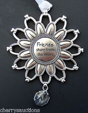 v Friends share from the heart SUNSHINE & FLOWER ORNAMENT prism ganz car charm