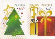 Australian Stamps - 2017 65c x 2 Christmas (Tree & Gift) - P&S Mint