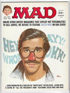 MAD MAGAZINE #187 BRONZE AGE EC COMIC BOOK Happy Days TV Show / Fonz cover 1976