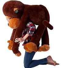 Large Size Funny Stuffed Animal Soft Plush Brown Monkey Plush Toy 70cm