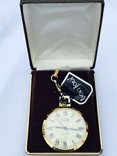 Vintage Bon Jour  Quartz Gold Tone Pocket Watch N.O.S W/chain V-Elegant(bonjour)