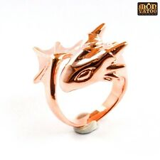 Golden Dragon Ring by MONVATOO London, a free-size bronze plated brass ring