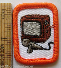 Girl Scout Sr BASIC AUDIO VISUAL PRODUCTION Interest Project TV Patch IP Badge