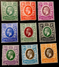 Somaliland Protectorate King George V 1912/19 Pt set x9 MINT STAMPS MLH