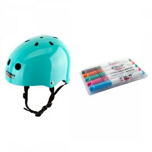 Triple Eight Wipeout Helmet Youth MD Teal Blue BMX/Skate