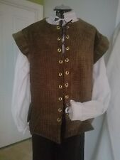 Renaissance Doublet (Lge) - Green and Lt Brown