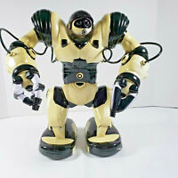 """WowWee Robosapien Humanoid Toy R/C Robot 14"""" Black/White With Remote Control"""